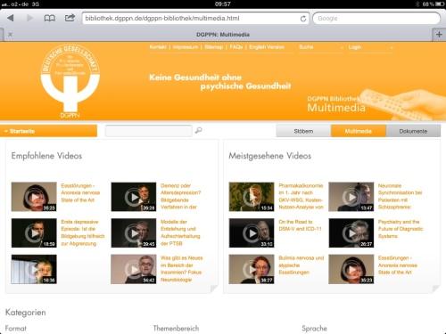 DGPPN Multimediabibliothek