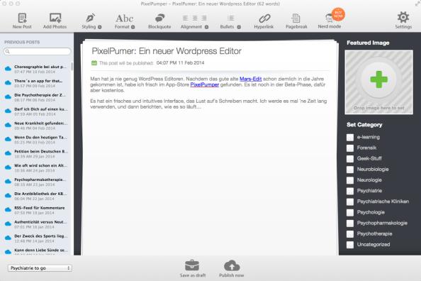 PixelPumper: Ein neuer WordPress Editor für denMac