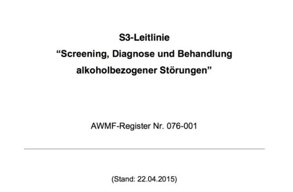 """Transparenteres Vorgehen in der Erstellung der S3-Leitlinien """"Alkohol"""" und""""Tabak"""""""