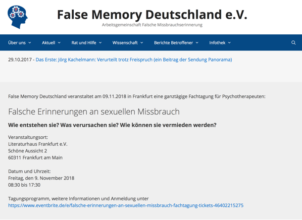 False Memory Deutschland  Arbeitsgemeinschaft falsche Missbrauchserinnerung 2018 09 13 09 57 58